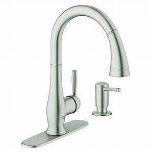 Kitchen  New Grohe Kitchen Faucet With Clean Lines And
