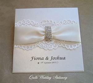 luxury diamante buckle wedding invitation various colour With how to make wedding invitations with ribbon and buckles