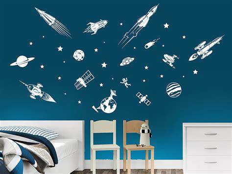 Wandtattoo Kinderzimmer Weltall by Wandtattoo Weltraum Set Mit Planeten Sternen