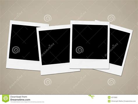 instant camera frames stock  image