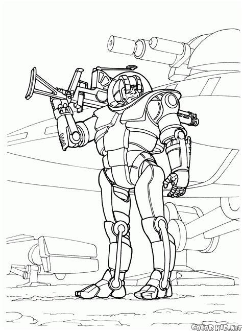 coloring page futuristic wars