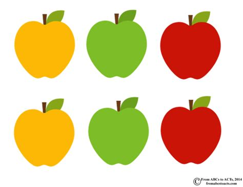 letter a apple sorting for preschoolers from abcs to acts 945 | Apples1