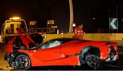 Ferrari Laferrari China Crashes Down Crash Carscoops