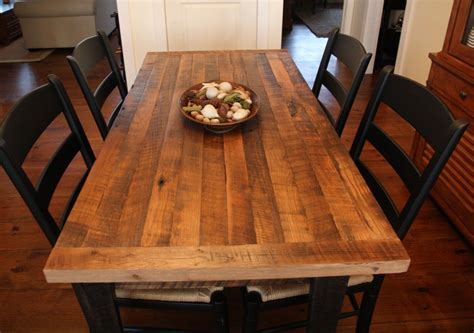 farmhouse style dining room with butcher block
