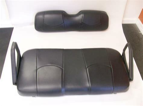 ezgo txt golf cart front seat replacementseat cover setall black ebay