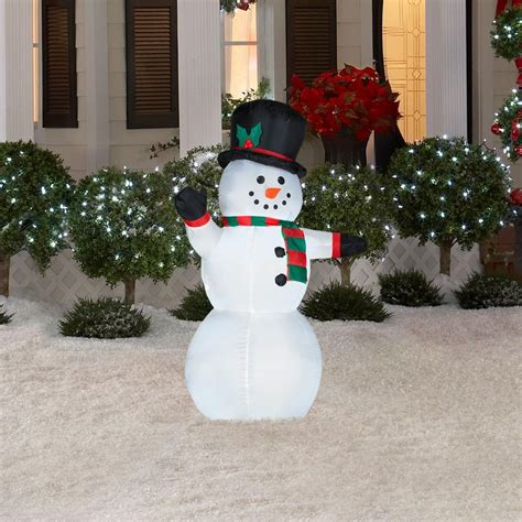 outdoor lighted snowman decorations outdoor holiday decor what to buy momtastic