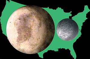 Size comparison of Pluto and Charon to the United States ...
