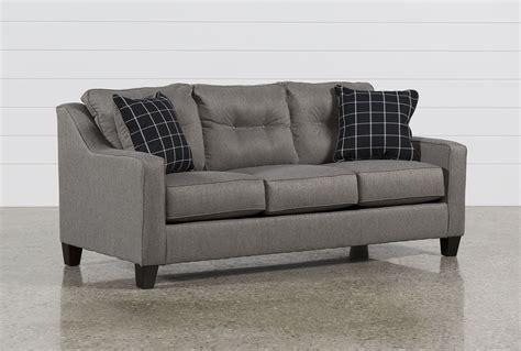 Milari Sofa Living Spaces by Brindon Charcoal Sofa Living Spaces
