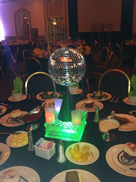 theme disco ball centerpiece event decor pinterest