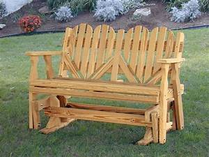 Amish Outdoor Pine Wood Heart Porch Glider Bench Made in