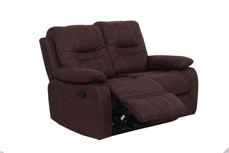 brown fabric recliner sofa vida living corelli 2 seater fabric recliner sofa brown