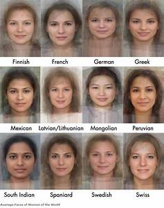 Software Calculates Appearance Of The Average Woman in 41 ...