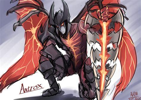 aatrox league  legends fan art art  lol