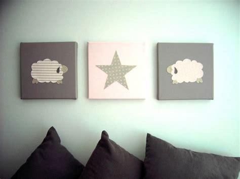 decoration murale chambre bebe décoration murale pour chambre d 39 enfant tableau triptyque