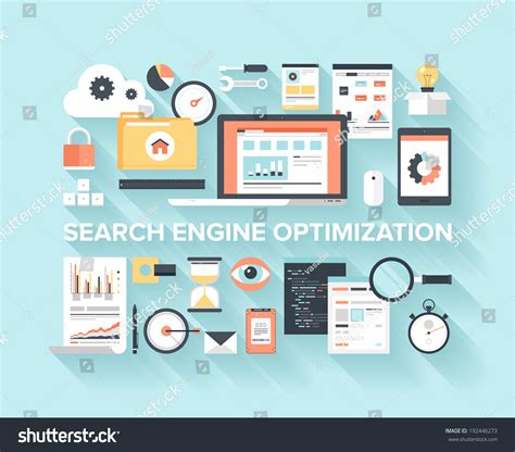 Search Engine Optimization Program by Abstract Flat Vector Illustration Of Search Engine