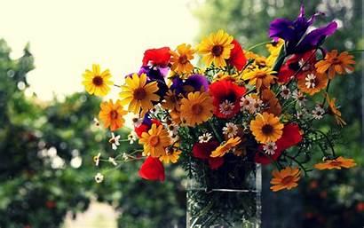 Flowers Bouquet Flower Wallpapers Vase Background Bouquets