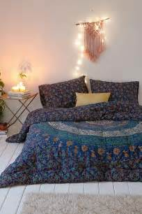 magical thinking blue medallion comforter urban outfitters