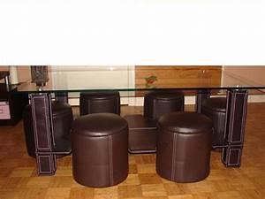 Table Basse Pouf Intégré : table basse avec 6 pouf le bois chez vous ~ Dallasstarsshop.com Idées de Décoration