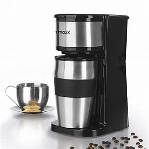 Kaffee Dauerfilter Edelstahl : coffeemaxx single kaffeemaschine edelstahl inkl thermobecher ~ Orissabook.com Haus und Dekorationen