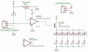 Iron Man Flex Sensor Repulsor Circuit Schematic