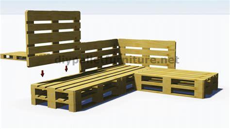 canapé en bois de palette photos canapé palettes bois