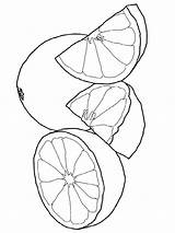 Coloring Grapefruit Pages Printable Fruits Print Recommended Colors Favorite Template sketch template