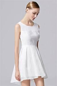 robe de soiree simple blanche avec veste dentelle amovible With robe simple avec dentelle