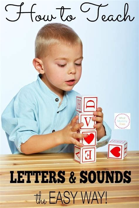 how to teach your preschooler letters amp sounds the easy 354 | 75eb2ad74d4dee1e0ff094975483b847