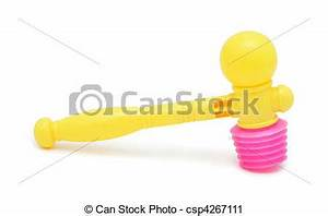 Stock Photography of Toy hammer, isolated on a white ...