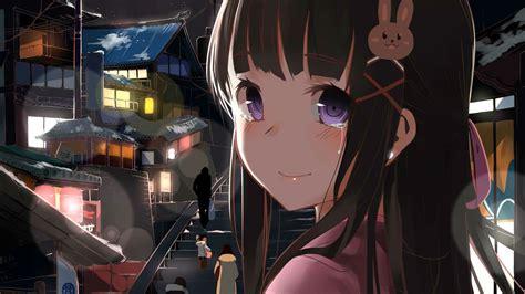 Wallpaper 1920x1080 Px Black Haired Anime Girl