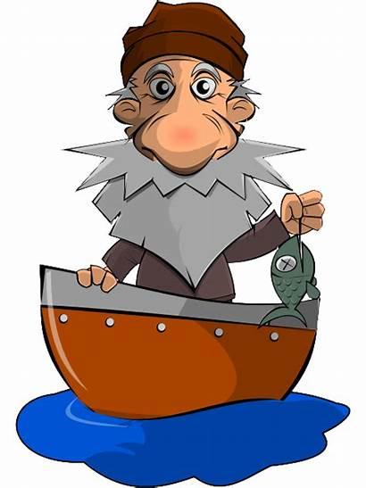 Fisherman Clipart Cartoon Fishing Sad Clip Fishermen