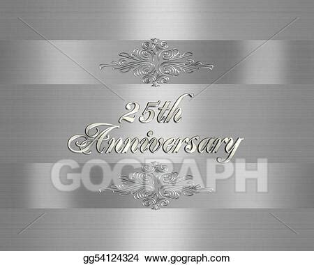 25th Wedding Anniversary Logo Design