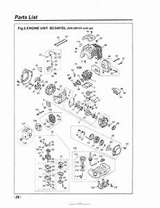 Red Max Bc3401dl-12  01 Engine Serial No  200101 And Up Date 12  01 Parts Diagram For 028