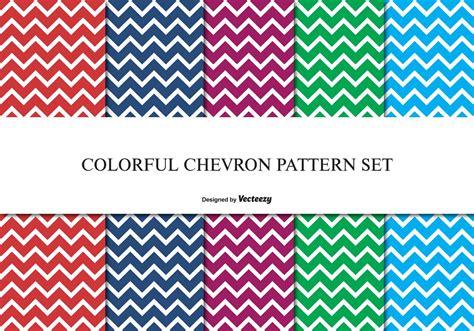 colorful chevron pattern set   vectors