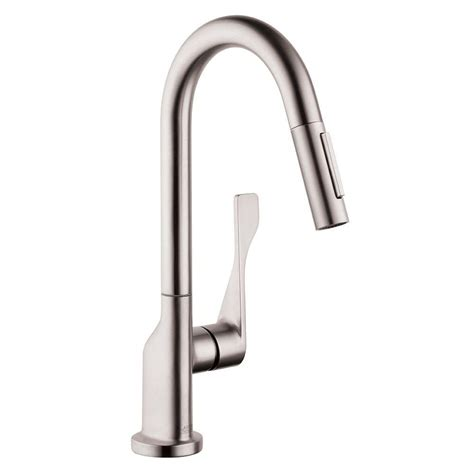 hans grohe kitchen faucet hansgrohe axor citterio prep single handle pull
