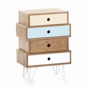 Commode Scandinave Ikea : meuble commode 4 tiroirs esprit scandinave coloris bleu polaire achat vente commode de ~ Teatrodelosmanantiales.com Idées de Décoration