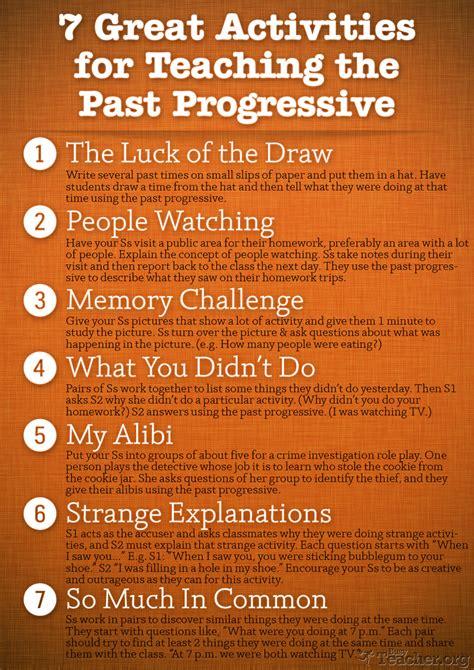 great activities  teach   progressive poster