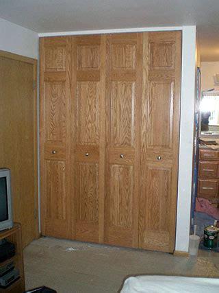 Custom Made Bi Fold Closet Doors by Custom Bifold Closet Doors Amish Custom Furniture