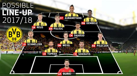 Bundesliga | How might Borussia Dortmund line up in 2017/18?