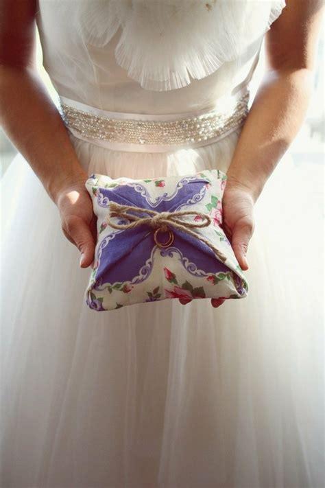 rustic wedding diy hanky wedding ring pillow 894248 weddbook