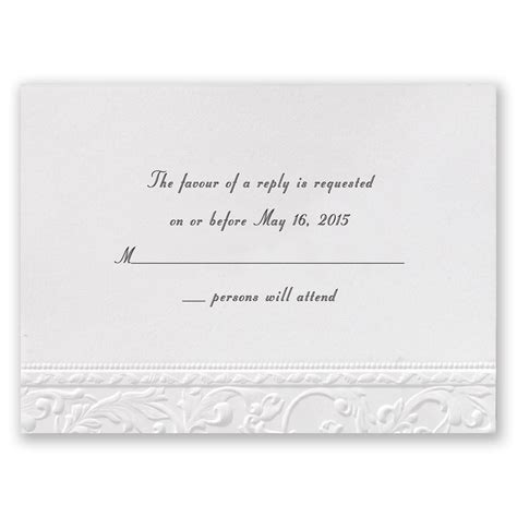 rsvp cards for weddings wording vintage white response card invitations by dawn