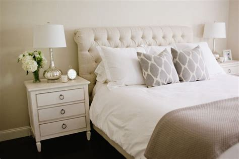 Bed With White Nightstands by Style Me Pretty Bedrooms Beige Walls Beige Wall Color