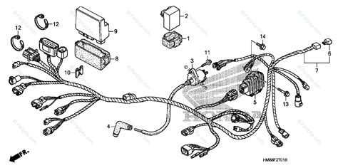 Honda Atv Oem Parts Diagram For Wire Harness