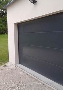 porte de garage sur mesure porte sectionnelle With porte de garage enroulable et porte interieur gris anthracite