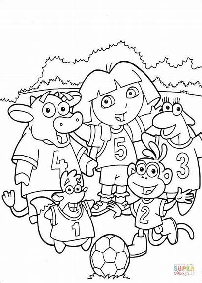 Coloring Soccer Team Pages Printable 2008 Colorings