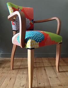 Refaire Un Fauteuil Bridge : fauteuil bridge ann es 50 imprim oiseaux et velours meubles et rangements par coquettes by b ~ Melissatoandfro.com Idées de Décoration
