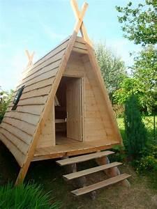 Plan De Cabane En Bois : cabane style indien cabane ~ Melissatoandfro.com Idées de Décoration