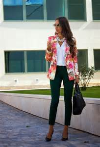 Outfits with Floral Blazer
