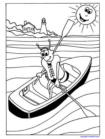 lifejacket coloring page safety bee kinderart