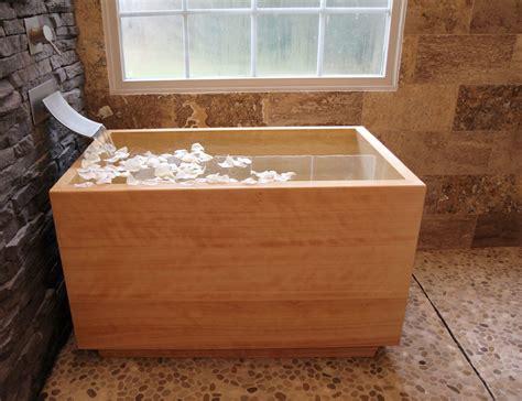 wooden sinks and bathtubs hinoki ofuro tub luxury bathroom products